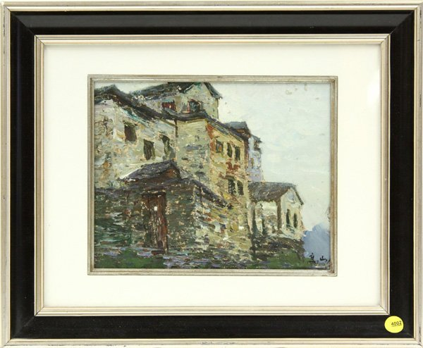 4002: painting, Stone House, Contemporary