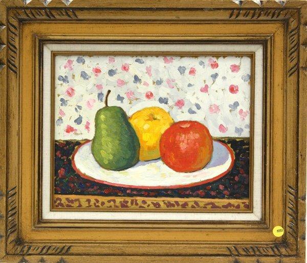 4003: oil, John Payne, Still Life with Fruit