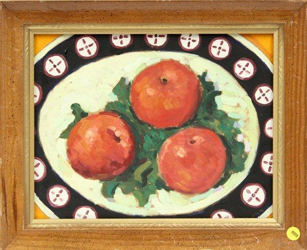4004: oil, John Payne, Still Life with Fruit, cira 1980