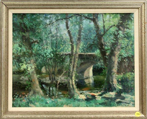 4006: oil, A. B. Heinsbergen, Landscape