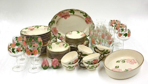 4015: Franciscan Desert Rose dinnerware