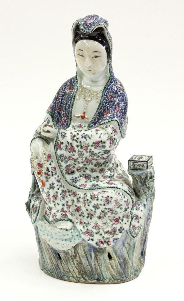 4053: Chinese Enamelled Porcelain Guanyin