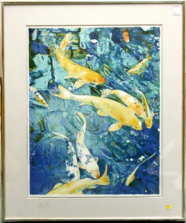 4365: lithograph, Koi Fish, Joseph Raffael