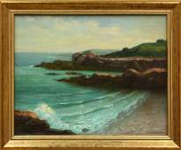4425: painting, C.H. Sherman, Seascape,