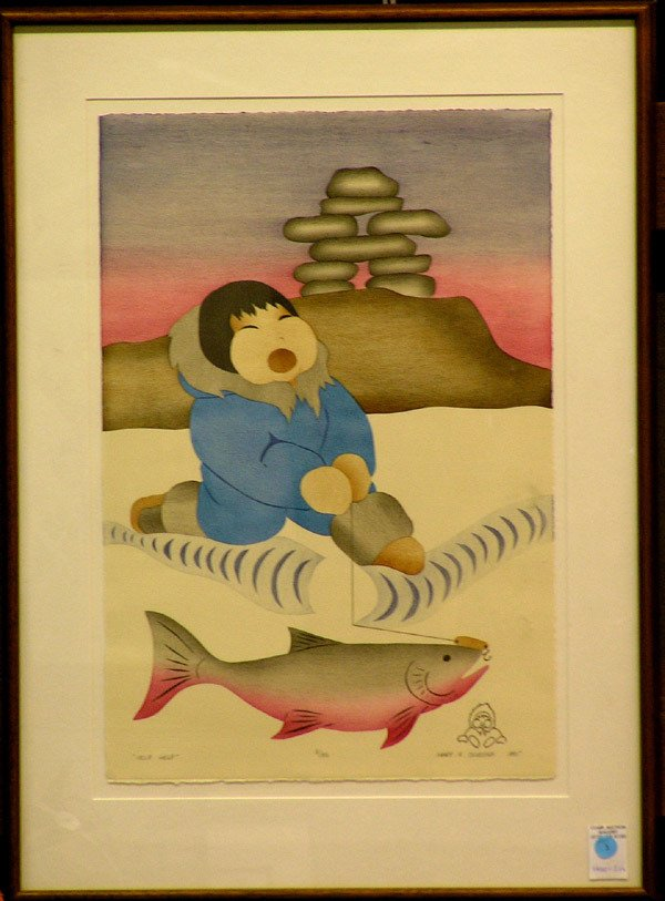 1: Okheena eskimo lithograph