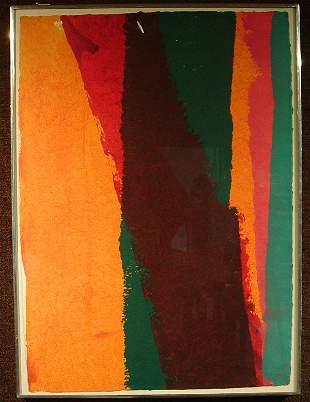 Framed acrylic, Edward Avedizian