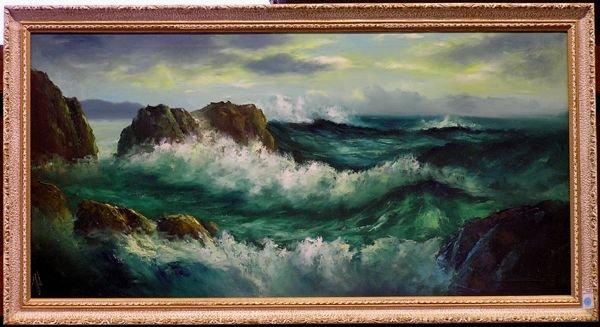 7: Seascape painting