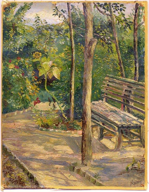 10: Park scene painting