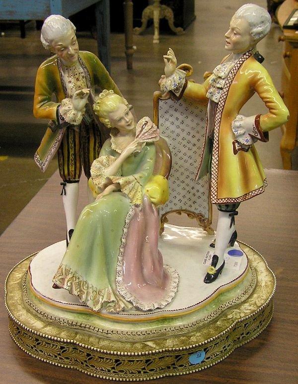 12: Continental Porcelain Figural Group