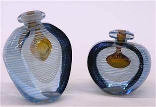 Art glass scent bottles