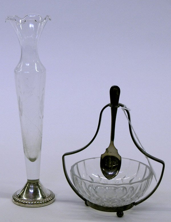 17: Val St. Lambert dish and vase