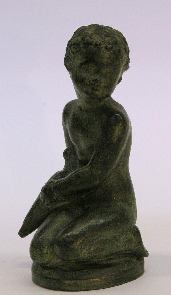 18: Patinated ceramic sculpture