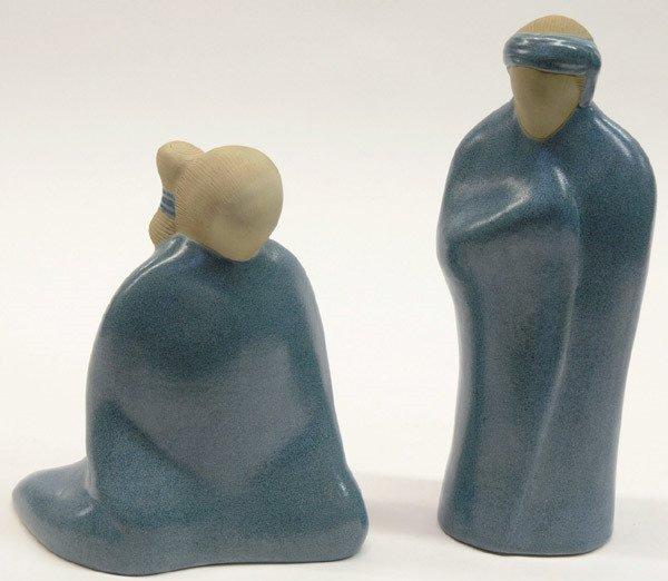 117: 2 Jack Black pottery figures