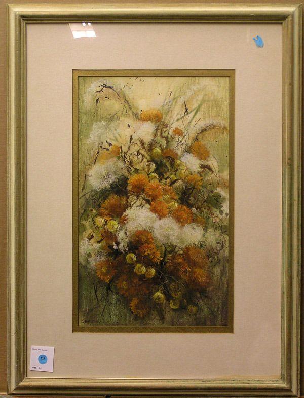 319: Mixed media, autumn bouquet