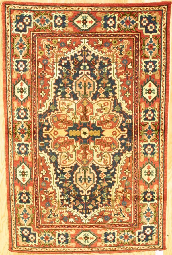 411: Antique Samarkand Medallion rug