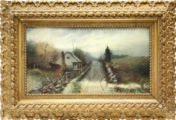 2002: Painting, German School, Landscape with Cabin