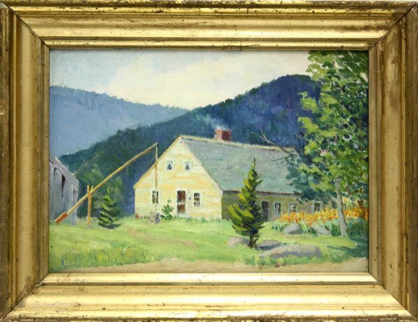 2003: Painting, Elizabeth Jewell, New England Farmhouse