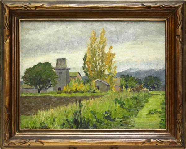 2005: Painting, Henry Alderton, Palo Alto, Field, Farm