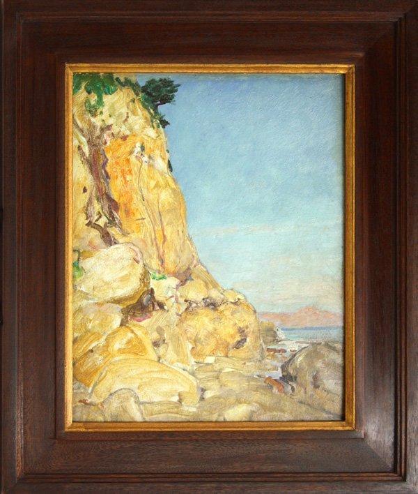 2007: Painting, Howard Butler, Santa Barbara Coast Clif