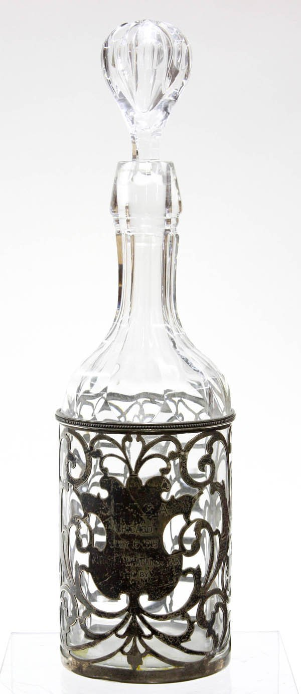 2015: Decanter with silver overlay