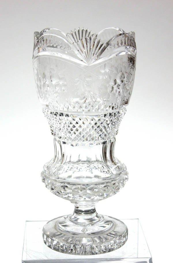 2016: Cut Crystal Urn Shaped Vase