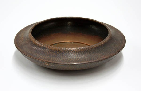 2021: Roycroft hammered copper low bowl