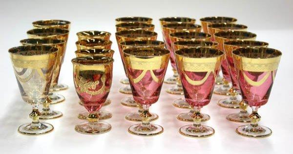2030: T Preziosi Italian glass stemware - 2
