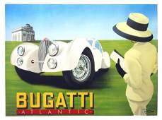 2115 Lithograph Gerard Razzia Bugatti