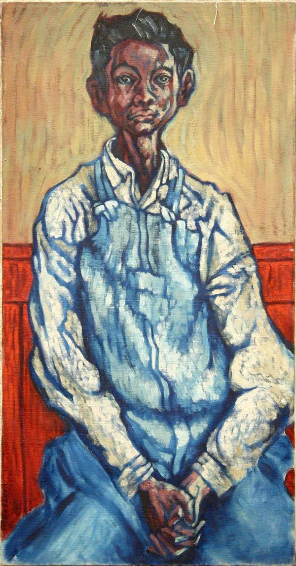 2166: Painting, Max Hartstein, Boy in Blue