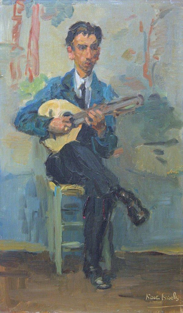 2339: Painting, Isaac Israels, Man with a Mandolin