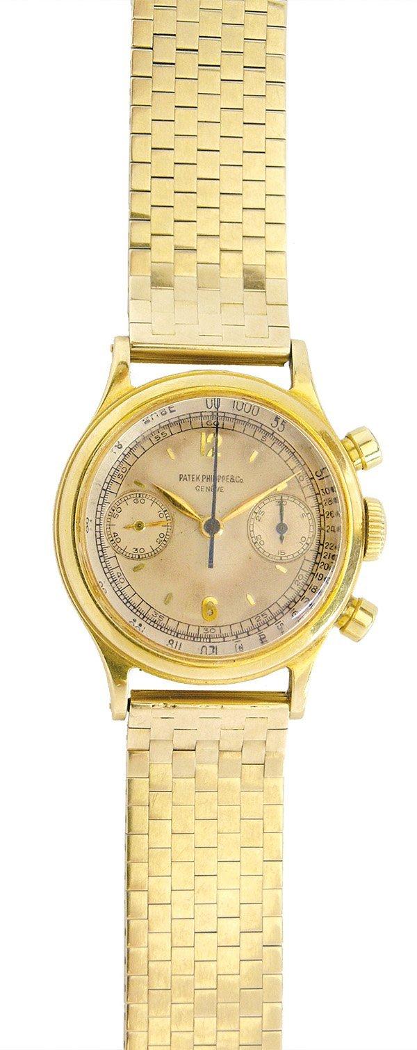 2438: Rare 1463 Patek Philippe wristwatch 18k yellow