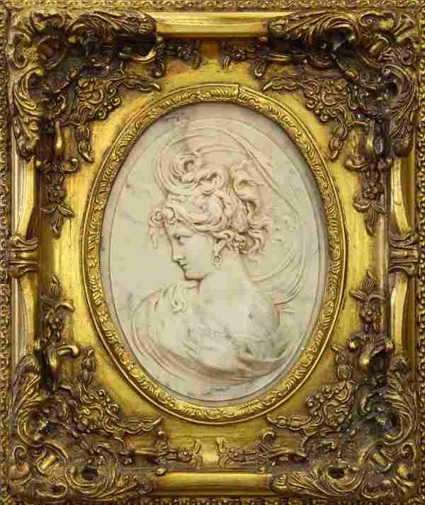alabaster bas-relief cameos