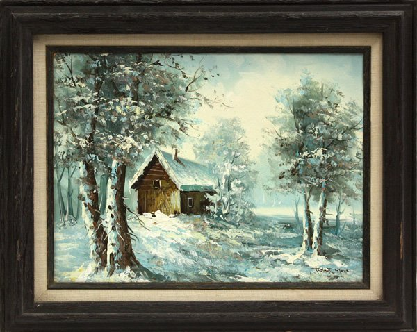 3: Painting, Robert More, Snowscape
