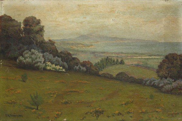 4: Painting, Fred Robertson, California Landscape