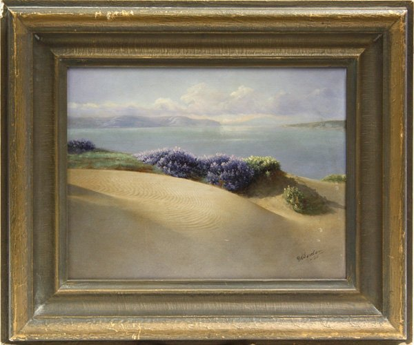8: Painting, Worden, Sand Dune by Sea