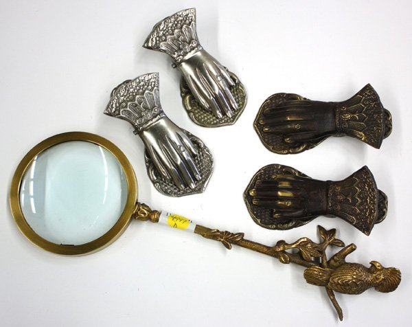 22: Brass figural magnifying glass