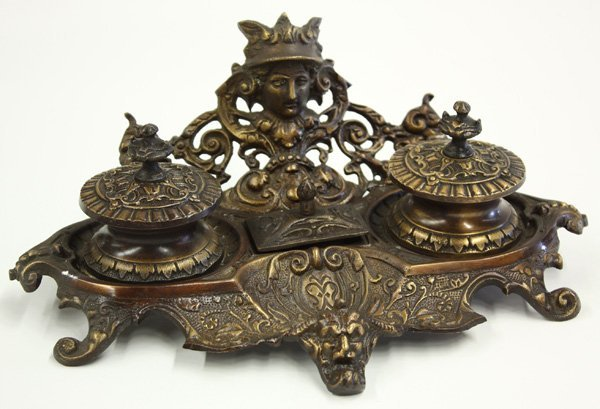 23: Baroque style double inkwell