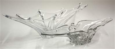 182 French sculptural crystal freeform centerpieces