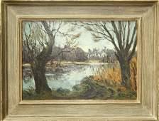 284 Painting Remy Esteve Landscape