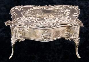 A British sterling miniature bureau plat, William
