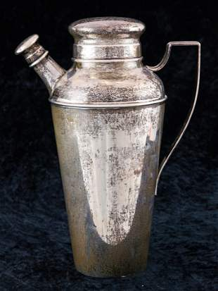 An Art deco S. Kirk & Son sterling cocktail shaker