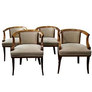 (lot of 4) A suite of contemporary Biedermeier style