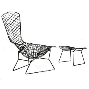 A Harry Bertoia for Knoll Bird lounge chair and