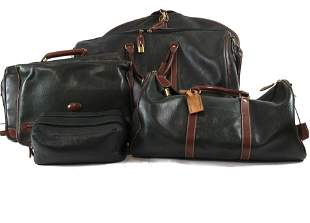 (lot of 6) A Cole Haan leather luggage group