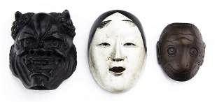 (lot of 3) Japanese miniature masks