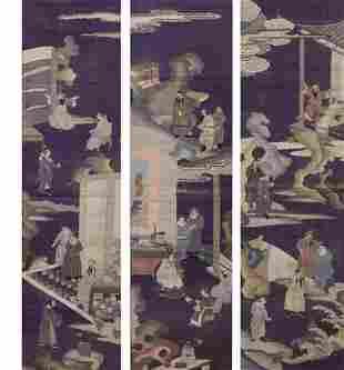(lot of 3) Chinese kesi wall hangings