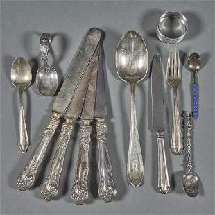 (lot of 12) Miscellaneous sterling flatware items