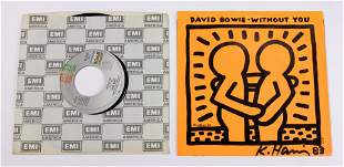 Keith Haring autographed David Bowie: Without You lp