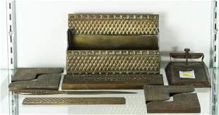(lot of 9) Marshall Field & Co. Athenian pattern gilt