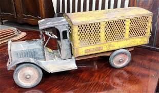 """Vintage Keystone model tin box truck 25""""l"""